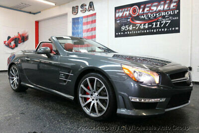 2015 Mercedes-Benz SL-Class SL63 AMG ONE OWNER CARFAX CERTIFIED . FULLY LOADED.  BEST COLOR. FACTORY WARRANTY