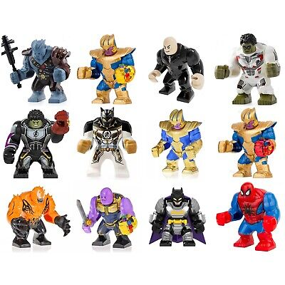 New Big Figures Thanos Venom Spiderman Heroes Avengers Fits in small lego Bricks