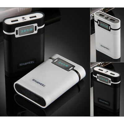 2 in 1 10000mAh Power Bank Charger Case for 18650 Rechargeable Battery Phone