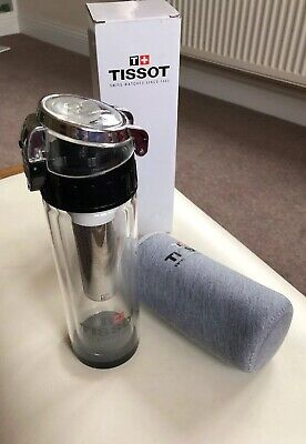 Tissot Watch Tea Fruit Infuser Glass Flask With Case