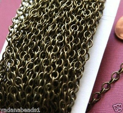32ft of Antiqued Brass Round Cable Chain 4mm x 5mm