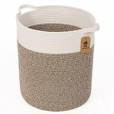 Large Cotton Rope Basket Woven Baby Laundry Blanket Toy Storage Magzines Contain