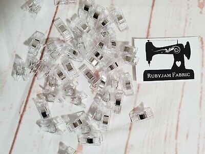 Pack of 25 Wonder Clips CLEAR for stretch knits, quilting, Sydney stock