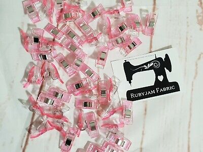 Pack of 25 Wonder Clips PINK for stretch knits, quilting, Sydney stock