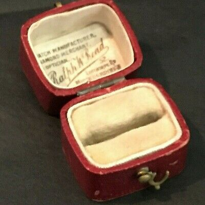 Old Ring  Box Antique Victorian