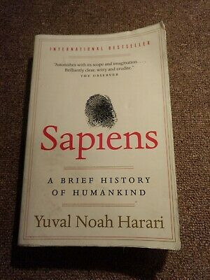 Sapiens A Brief History of Humankind by Yuval Noah Harari Paperback Book New