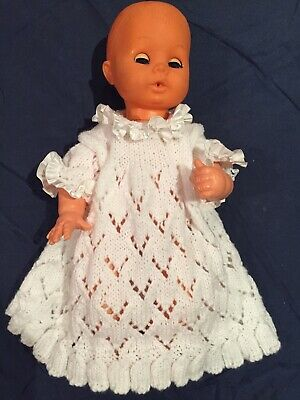 Hand Knitted Dress For 16 Inch Doll