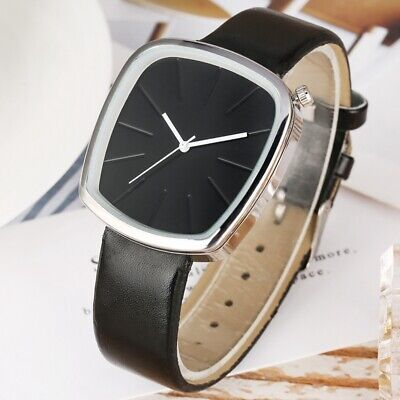 Modern PU Leather Quartz Watch Square Dial Wristwatch for Women Lady Girl Gifts