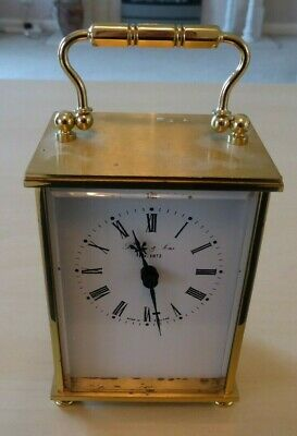 Vintage Bailey & Sons heavy Brass quartz carriage clock, in working order.
