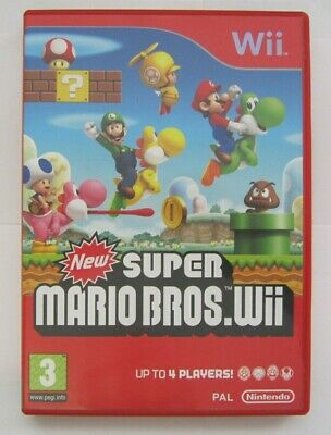 Official Nintendo New Super Mario Bros Wii C/W Manual
