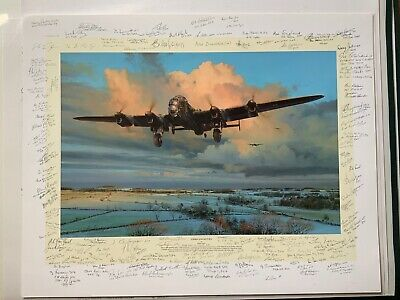 Strike and Return Robert Taylor pencil signed 124 Bomber Command Dambusters