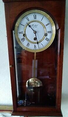 Glass Panel Woodford 8 Day Wind-Up Pendulum Wall Clock With Westminster Chimes