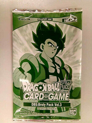 Dragon Ball Super Card Game Broly Pack Vol.3 Sealed Promo Pack Bandai English