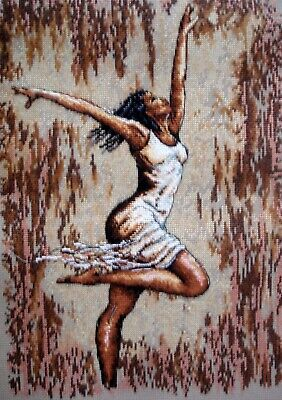Dimensions Maia Completed Counted Cross Stitch Picture Dance of Joy I