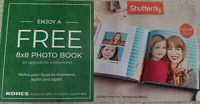 SHUTTERFLY 20 STANDARD PAGES 8x8 PHOTO BOOK, a $29.99 VALUE EXPIRES 7/31/19