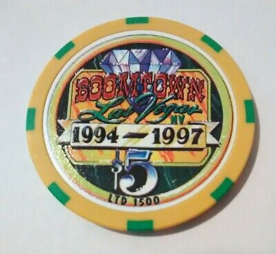 1997 BOOMTOWN HOTEL CASINO LAS VEGAS, NEVADA 3rd ANNIVERSARY $5.00 GAMING CHIP!