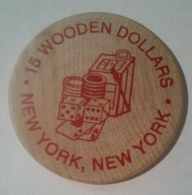 2002 New York, New York Cc&Gtcc / A.n.a. Hard To Find $15.00 Wooden Nickel!