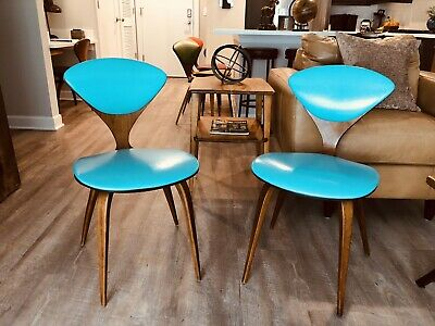 Stunning Pair Of Original Cherner Chairs produced By Plycraft Mid Century Modern