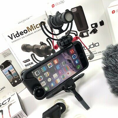 Apple Iphone 6 6S Camera Accessories Vlogging Kit Olloclip Rode Neewer Manfrotto