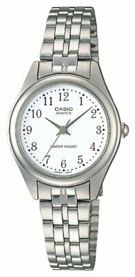 CASIO Standard Analog Watch Silver/White LTP-1129AA-7BJF Woman's