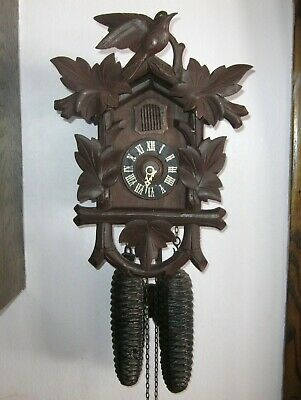 Vintage Welby Black Forest 8 Day Cuckoo Clock Works Regula Mvt Huge Cone Weights