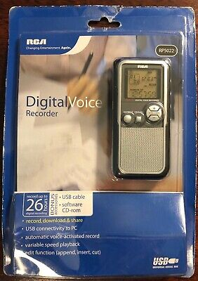 RCA RP5022 (64 MB, 25 Hours) Handheld Digital Voice Recorder