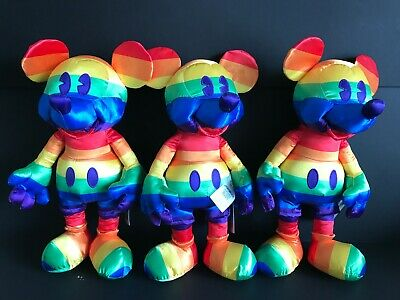Disney Store Exclusive Rainbow Mickey Mouse Plush Limited Release IN HAND