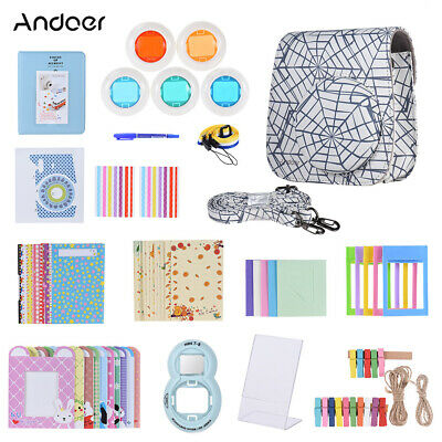Andoer 14 in 1 Accessories Bundle for Fujifilm Instax Mini 8/8+/8s/9 with G3H9