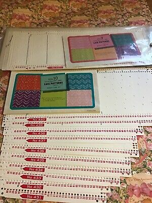 Pc230 Silver Reed Knitting Machine Punch Cards Volume 9  & 10 Lace Patterns