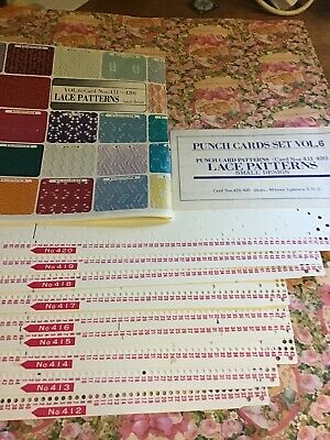 BROTHER KNITTING MACHINE PATTERNS PUNCH Cards Lace Patterns 411-420 Set
