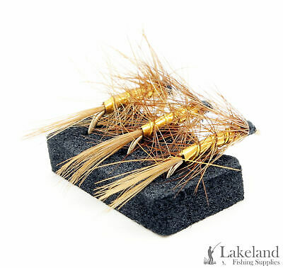 3x 6x or 12x Grenadier Special Hackled Wet Flies for Trout Fly Fishing