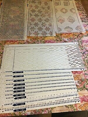 BROTHER KNITTING MACHINE PATTERNS PUNCH CARDS Job Lot 37 Cards