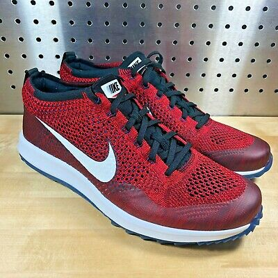New Nike Flyknit Racer G Golf Shoe Team Red White Gym Red (909756 600) Size 10