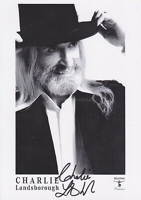 Charlie Landsborough HAND SIGNED Photocard, Autograph What Colour is the Wind