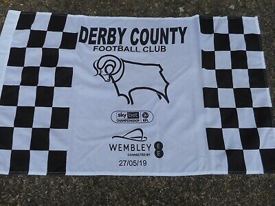 DERBY COUNTY BRAND NEW PLAY-OFFS FLAG v aston villa  @ WEMBLEY     MAY 27th