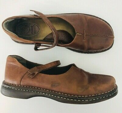 Planet Shoes Brown Leather Mary Jane Style Flats Womens Size AU 10