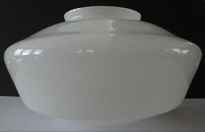 VINTAGE 1920s Large Milk Glass School House Light Ceiling Fixture Lamp Shade 13""