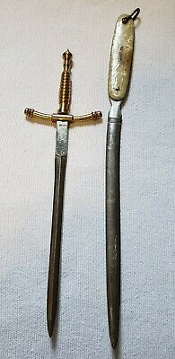 Lot of 2 vintage antique Japanese letter openers