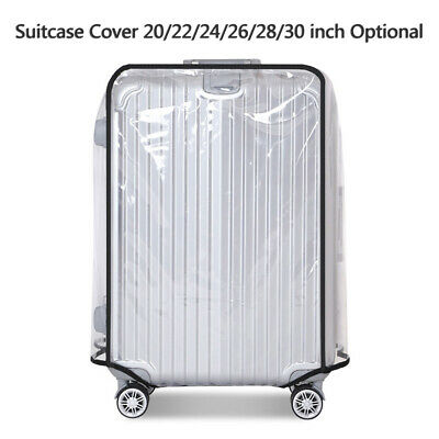 Hot!Clear PVC Transparent Travel Outdoor Luggage Protector Suitcase Cover 20-30""