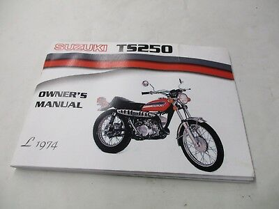 SUZUKI TS250 OWNERS Service Manual 1976 - £20 00 | PicClick UK