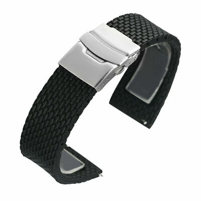 18/20/22/24mm Silicone Rubber Watch Strap Band Replacement Waterproof Belt