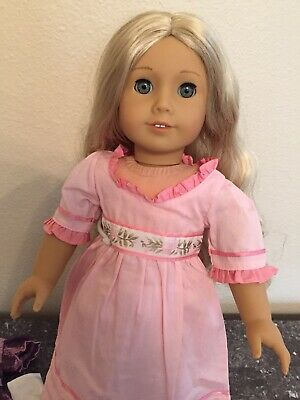 "MINT American Girl Doll 2012 CAROLINE Blonde Retired 18"" W/Clothes Shoes Stand"