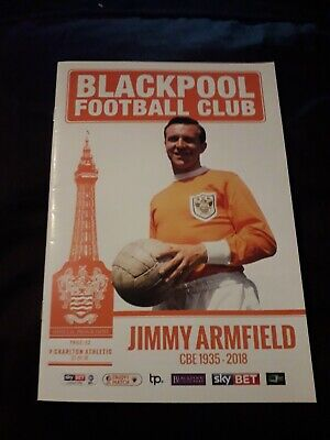 2018-Blackpool V Charlton Athletic-Jimmy Armfield Tribute-League One Programme