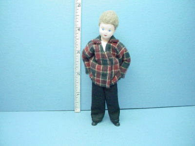 """Erna Meyer Handcrafted Miniature Young Boy /""""Linus/"""" #10202 Dollhouse Doll"""