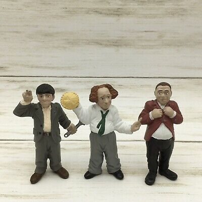 Vintage Set Of The Three Stooges PVC Figures Larry Curly & Moe 3.5""