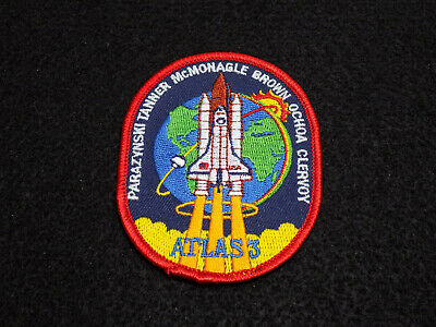 """Official NASA STS-66 Patch Space Shuttle Atlas 3 - 3"""" Iron-On"""
