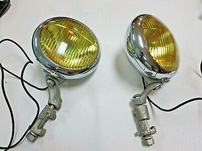 OEM Ford Unity fog lights 1940 - 1946 Ford Special Deluxe NOS storage wear