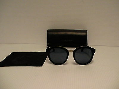 Diesel Sunglasses DL0090 col.01V 53mm round frame new with leather box