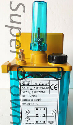 Yeong Dien CNC SMA-601-15F 110V 2L FLOAT-SWITCH INTERMITTENT LUBRICATION PUMP CE