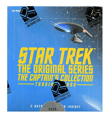 Star Trek The Original Series The Captain's Collection Trading Cards Box